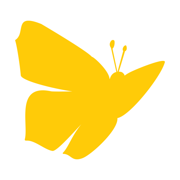 Perhon kunnan tunnus keltainen perhonen.